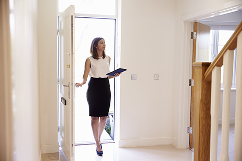 Woman in hallway